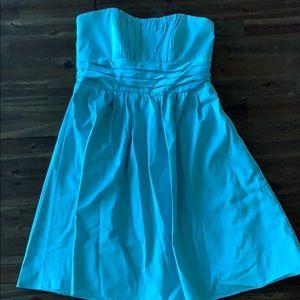 Strapless Tea Length Formal Dress